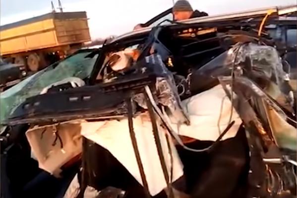 Автомобиль полностью разбит