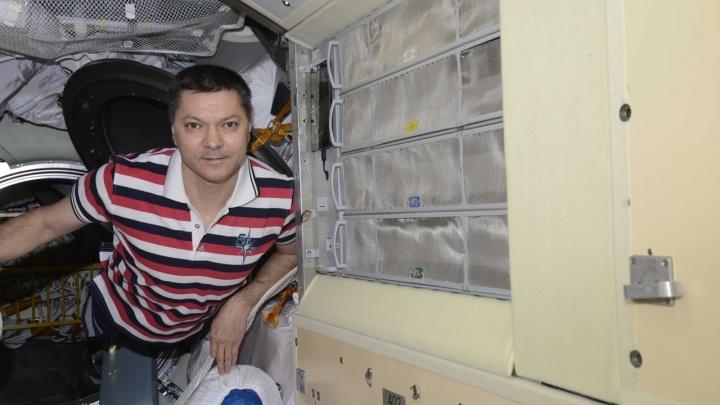 Самарский космонавт установил«умную полку» на МКС