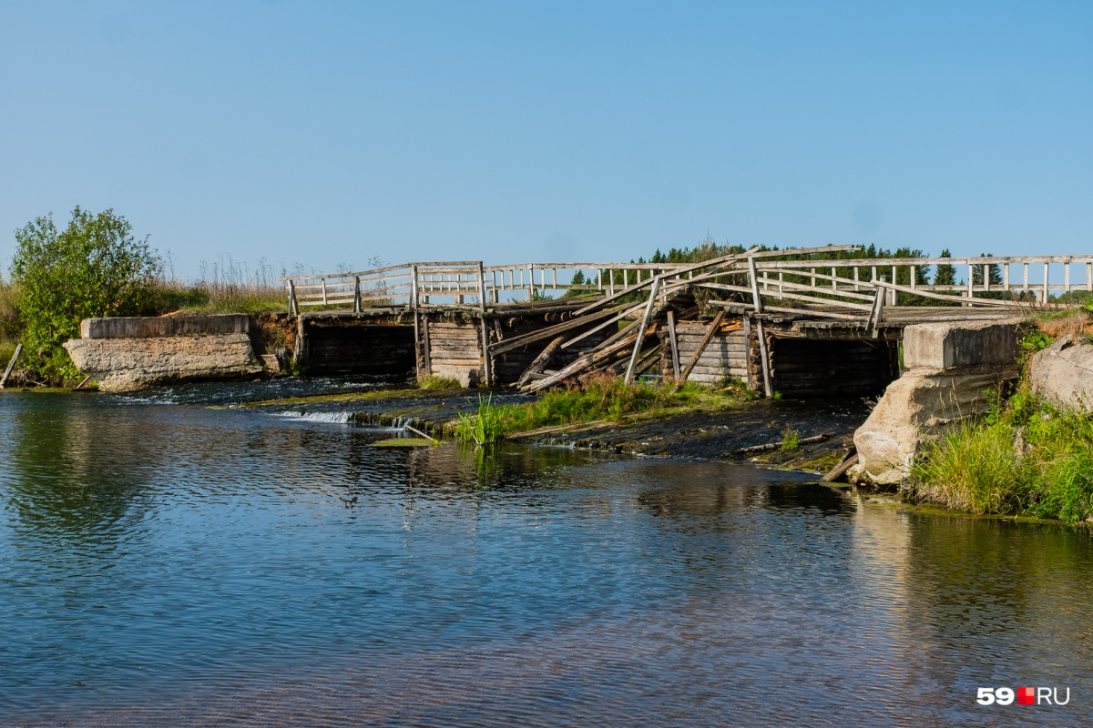 Мост через Онолву разрушается