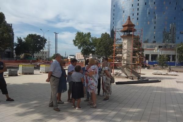 Жители района оценивают готовность новых достопримечательностей