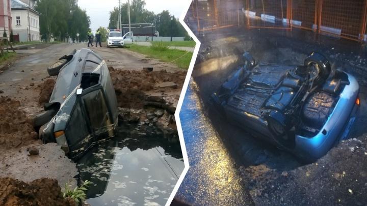 От метра до шести: самые адские провалы в Ярославской области, которые утащат вашу машину