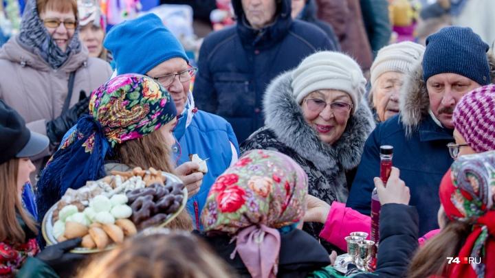 В Челябинске устроили пельменный баттл, дегустацию наливок и танцы с медведем