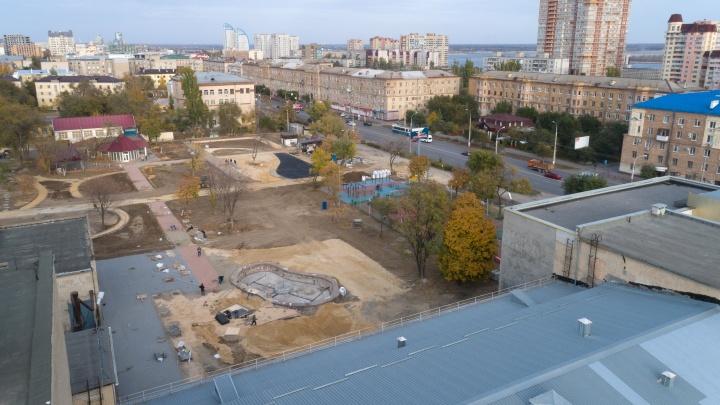 «До сказки ещё далеко»: в Волгограде парк возле ТЮЗа перекроят к декабрю