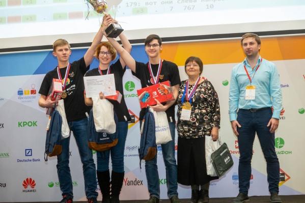 Юные программисты Иван Лахтин, Алиса Гладченко иВиктор Михайлов