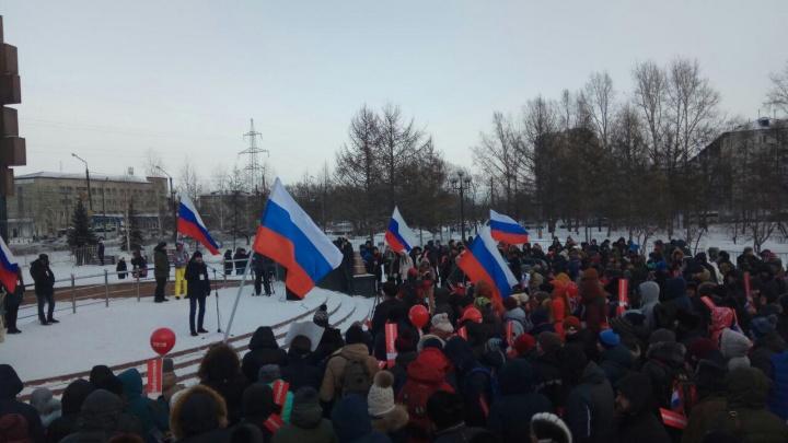 На митинг сторонников Навального в Красноярске пришли 300 человек