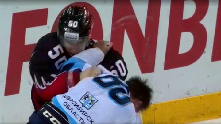 «Сибирь» против «Авангарда»: поражение с минимальным счётом и драка в середине матча