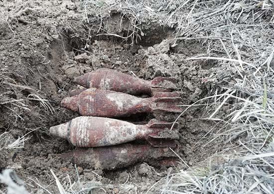 В Волгограде обнаружили шесть миномётных снарядов Второй мировой войны