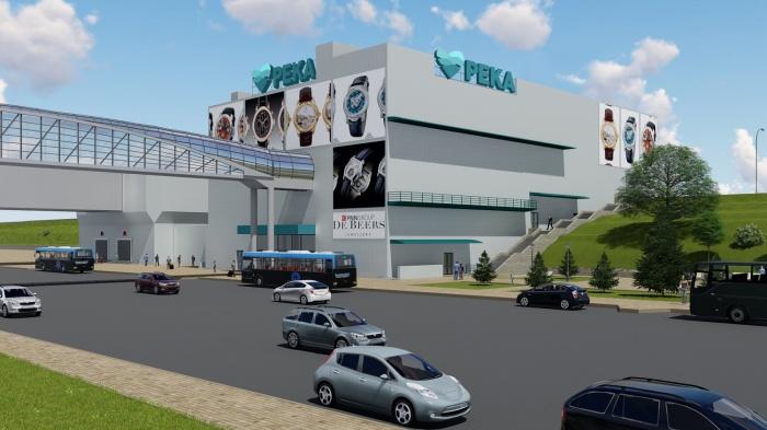 На Речном вокзале ударными темпами достраивается новый торговый комплекс