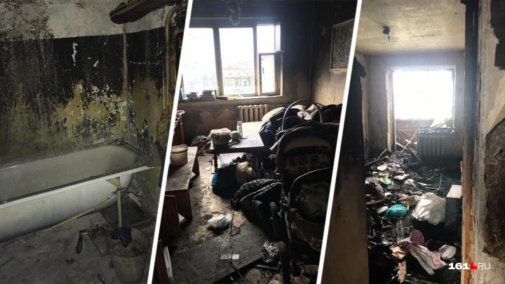 Вонь и мусор: в квартире, из которой во время пожара женщина выкинула ребенка, до сих пор не убрали