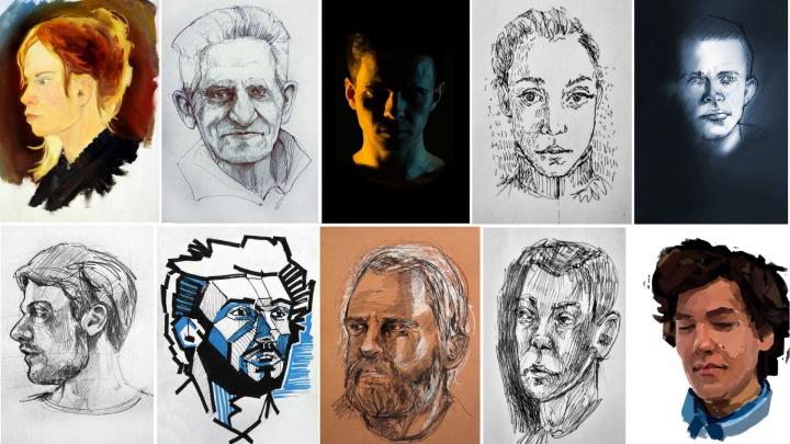 Студент политеха на спор нарисовал более 700 портретов: он делает их ежедневно в течение двух лет
