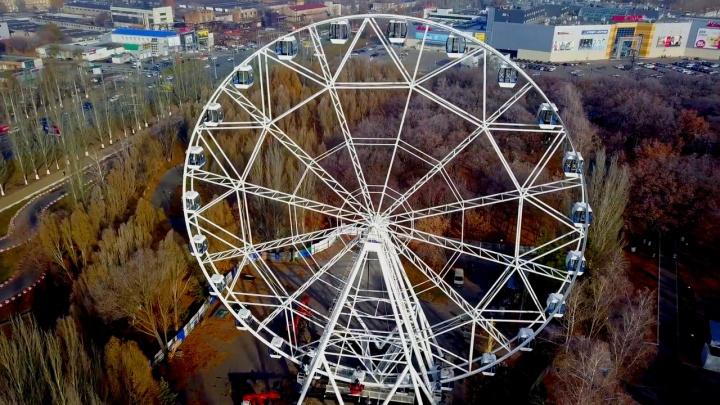 Колесо обозрения в парке Гагарина обещают запустить в конце недели