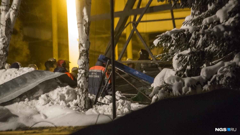 Снег осложнял работу спасателей и кинологов