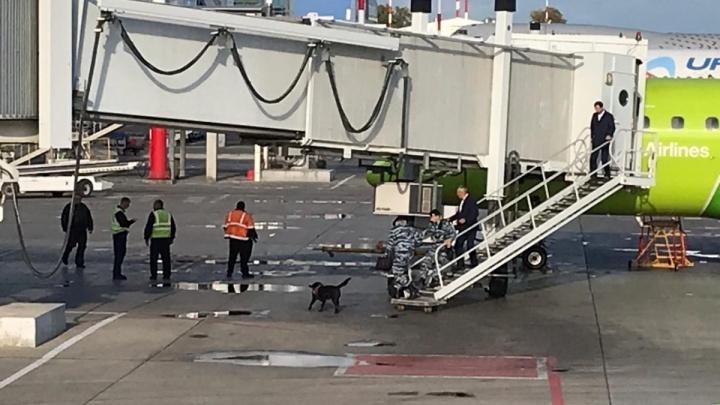 Самолёт в Новосибирск задержался из-за анонимного письма о бомбе