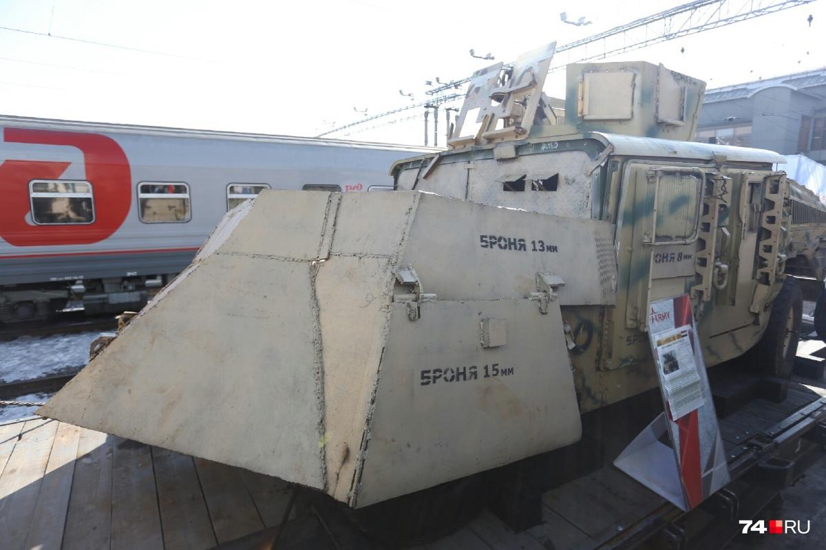 Изъятую у боевиков технику провезут через всю Россию
