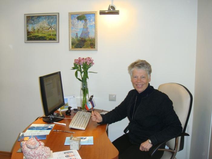 Директор Датского центра головных болей Rigmor Jensen в центре головных болей «Европа— Азия» в Екатеринбурге