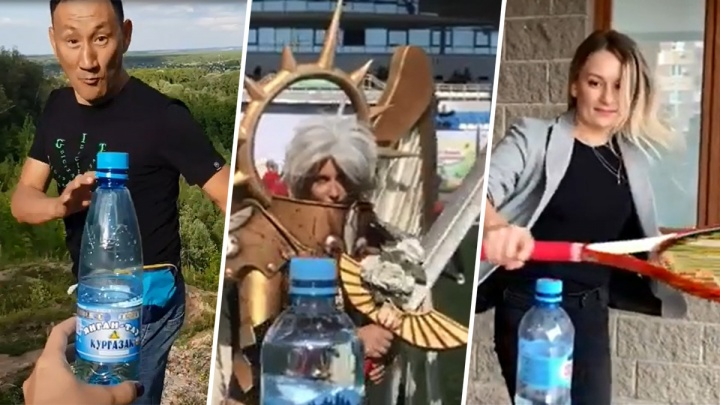 Так делают настоящие батыры: уфимцы показали мастер-класс по BottleCapChallenge