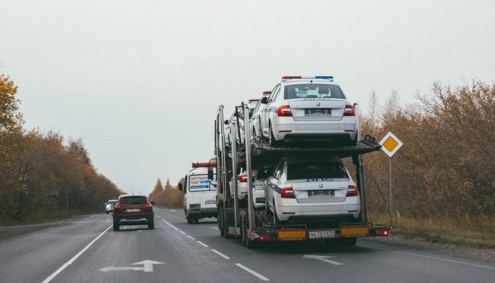 Пересадили наSkoda Octavia: в Новосибирск привезли новые машины для ГИБДД