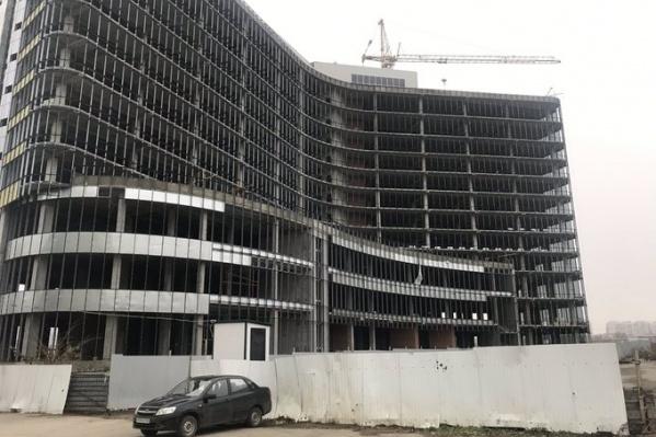 Здание начали возводитьв начале 2018 года