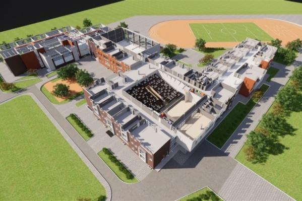 Школу разместят в здании сложной конфигурации