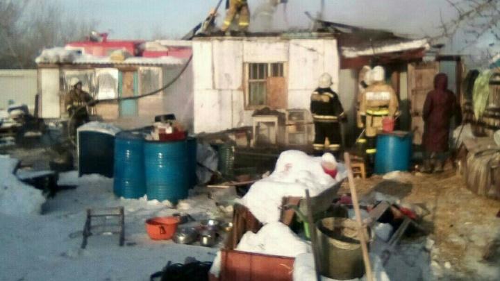 В Омске сгорел приют-хоспис для собак