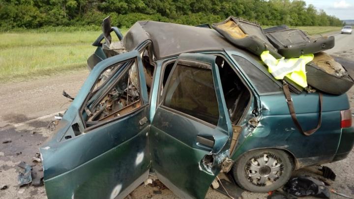 В Куюргазинском районе Башкирии столкнулись Mercedes Gelandewagen и ВАЗ-2110: два человека погибли
