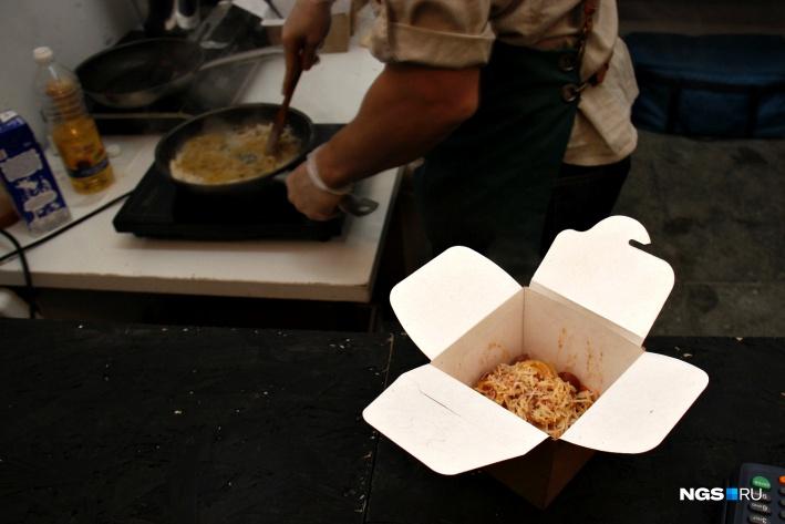 Итальянская паста в коробочках от кафе «У Беллуччи круче»