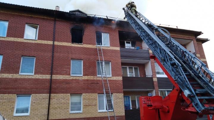 Два человека погибли, 190 остались на ночь без жилья. В новостройке Краснокамска случился пожар