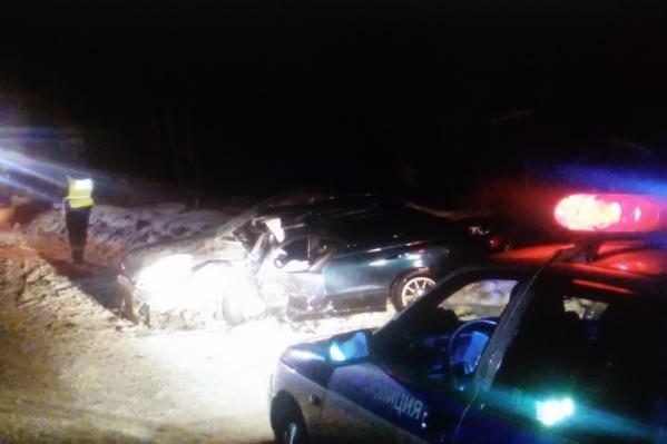 Столкнувшиеся машины ехали навстречу друг другу