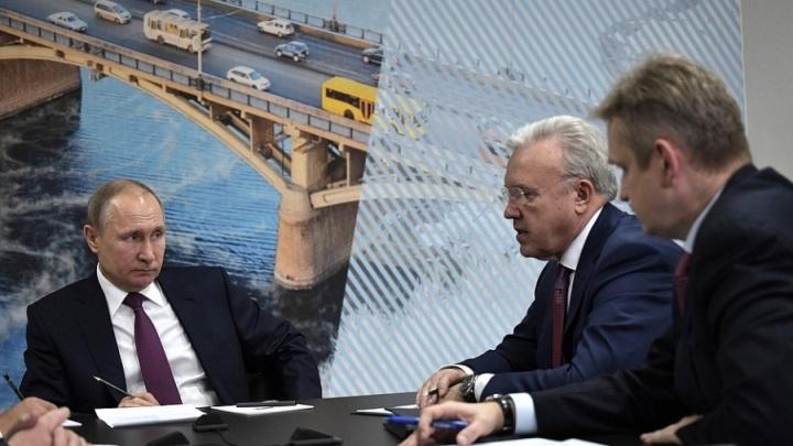 Обещания миллиардов и отставки чиновников: с чем Владимир Путин приезжал в Красноярск