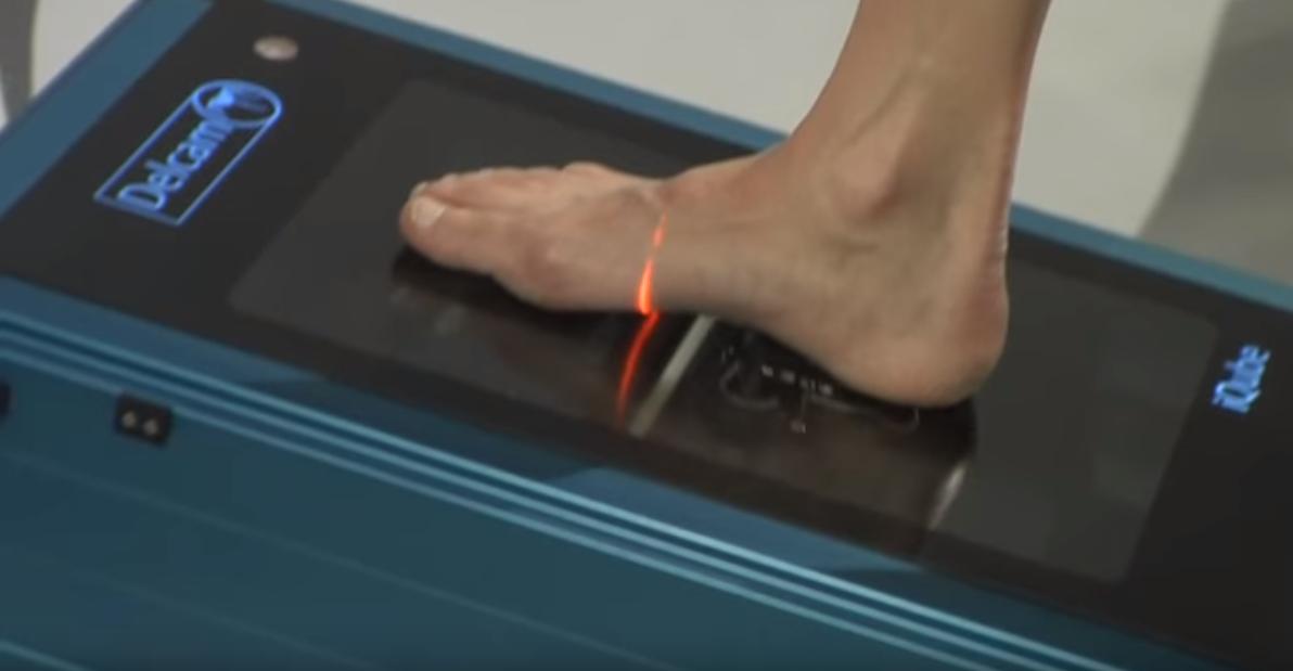3D-сканер позволит установить тип плоскостопия, диагностировать патологию стоп и степень нагрузки