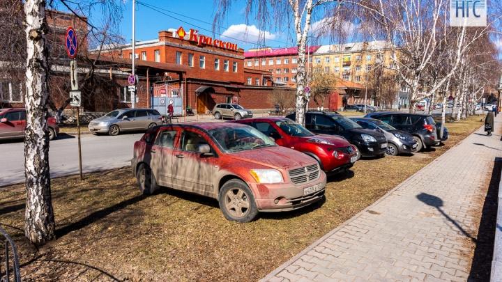«Я паркуюсь как…»: на газонах распустились автохамы