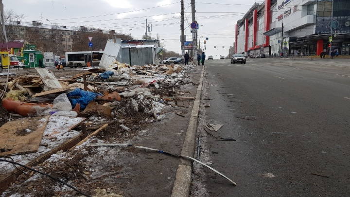 Сровняли с землей: в Самаре снесли рынок на Авроры — Аэродромной