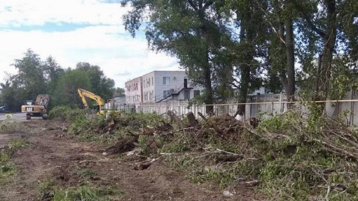 Валят деревья: в Самаре стартовали работы по расширению проспекта Кирова