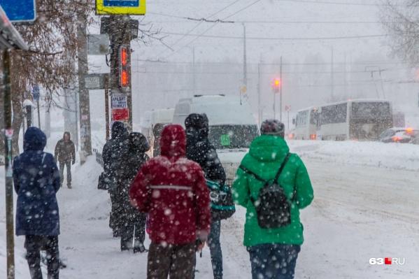 В ближайшие сутки синоптики ожидают снегопад и сильный ветер