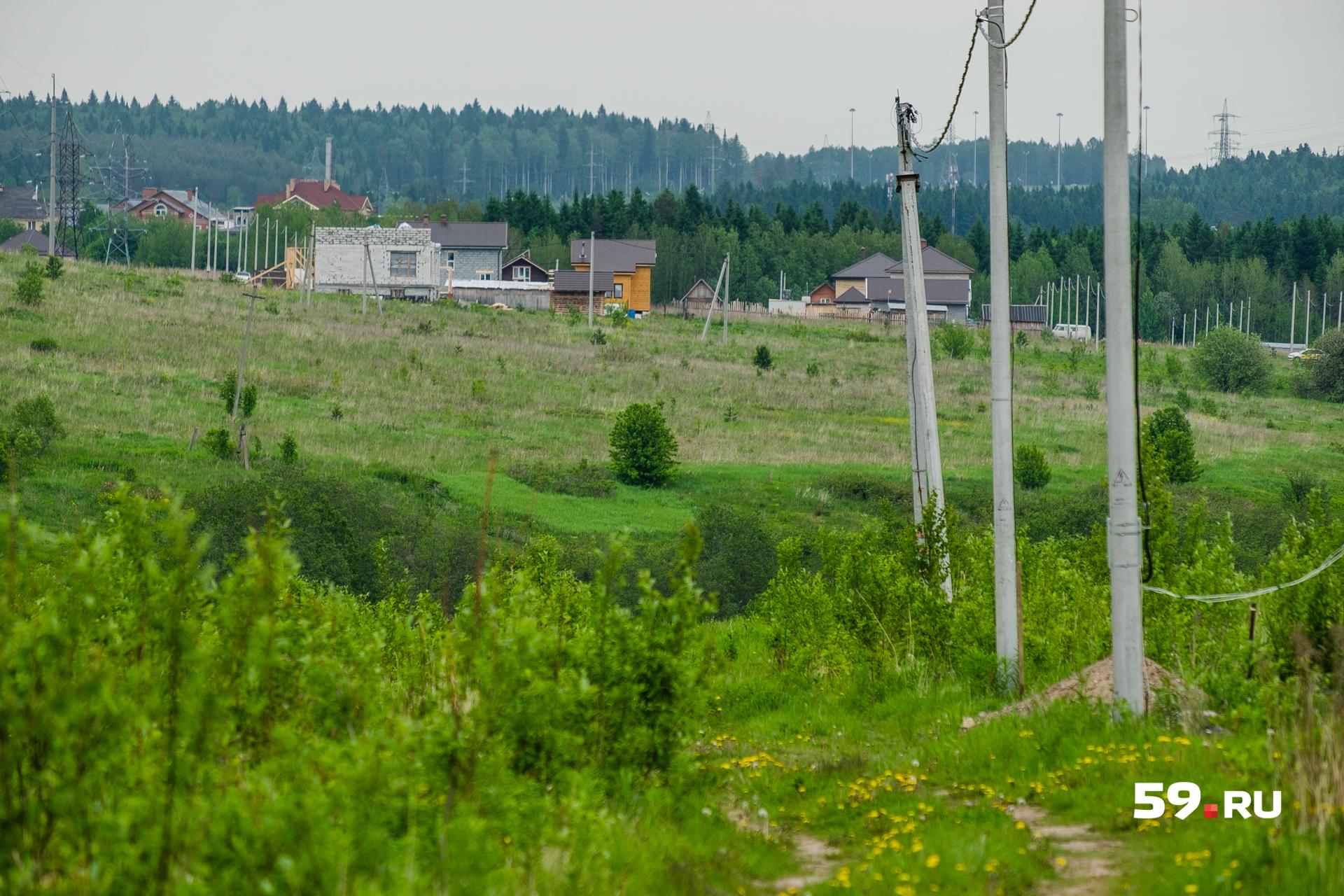 Рядом с участком Турок еще несколько домов и чистое поле