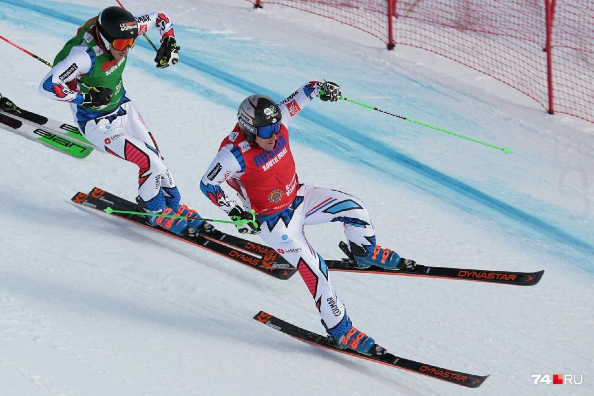 Ски-кросс — очень зрелищный вид спорта