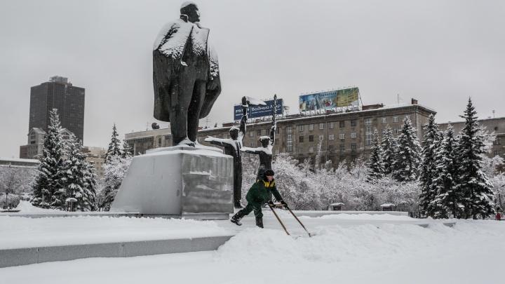 В Новосибирск идёт тёплая и снежная погода