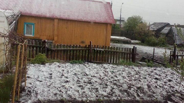 Жителей Башкирии в июне засыпало снегом