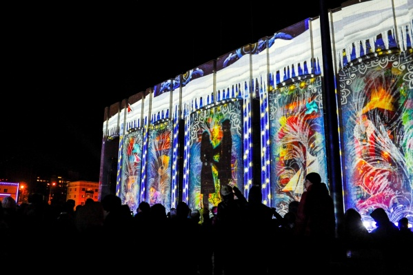 Трехмерное световое шоу в Перми показали впервые