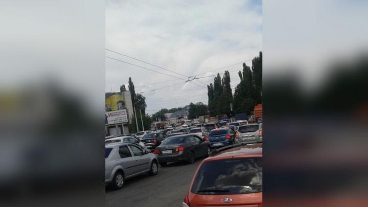 Дорожные ремонтники в Уфе заблокировали выезд из города