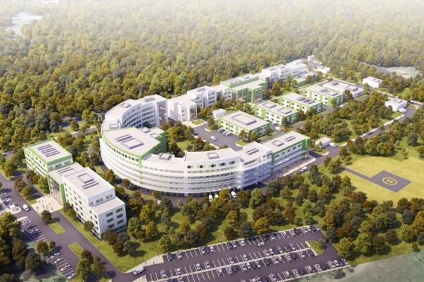 Так больница выглядит в проекте