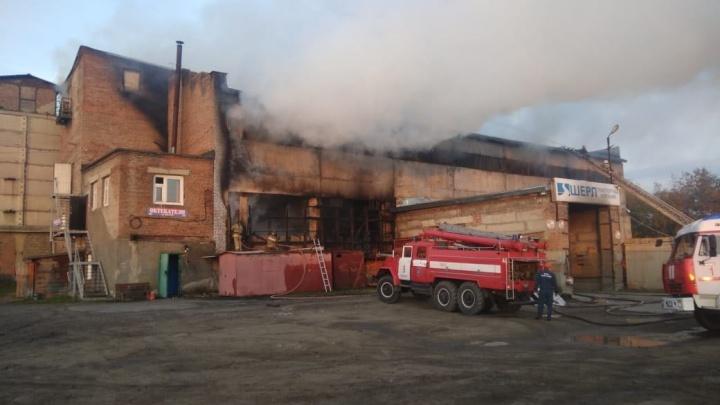 На Толмачёвской загорелся склад с газовыми баллонами: на место выехали почти три десятка пожарных