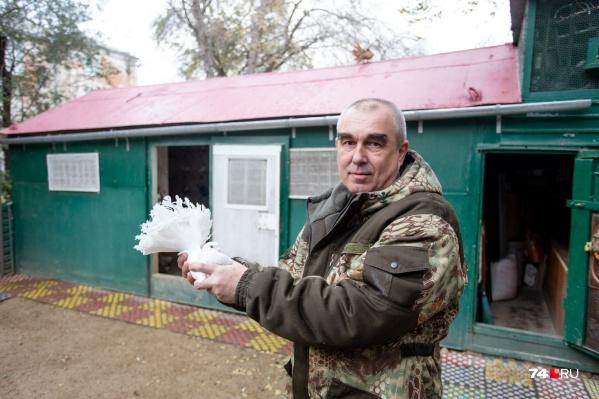 Голуби завоевали сердце Виктора Сарапулова