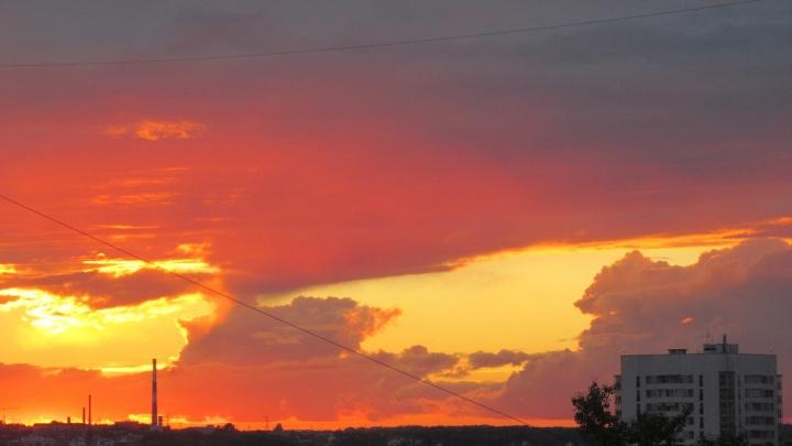 Горожан заворожили алые облака над Новосибирском