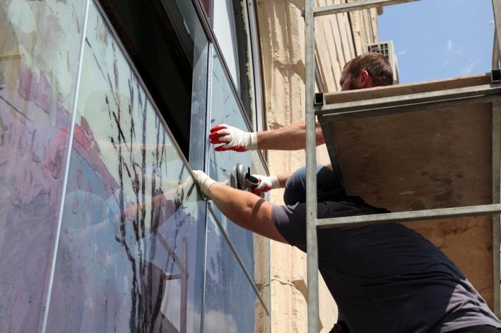 На витражах — картины волгоградских и сталинградских художников