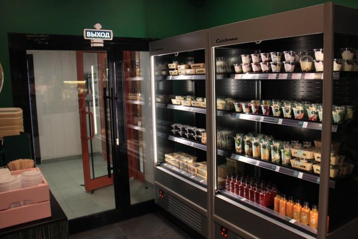 Создатель Prime Time предполагает, что покупатели будут заходить сюда за готовыми блюдами, чтобы съесть их дома или в офисе