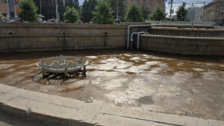 Фото: из фонтана в Первомайском сквере слили воду в День Ивана Купалы
