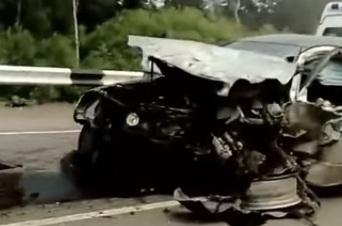 Как лихач летел на трассе перед тем, как раскидать две машины под Вознесенкой
