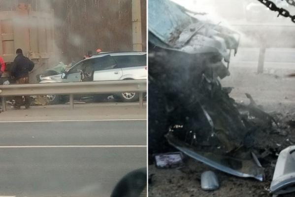Рабочие«ЗапСибНефтехима» попали в аварию по пути домой