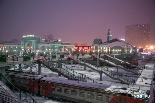 Инцидент случился ночью 15 декабря в зале ожидания вокзала Новосибирск-Главный
